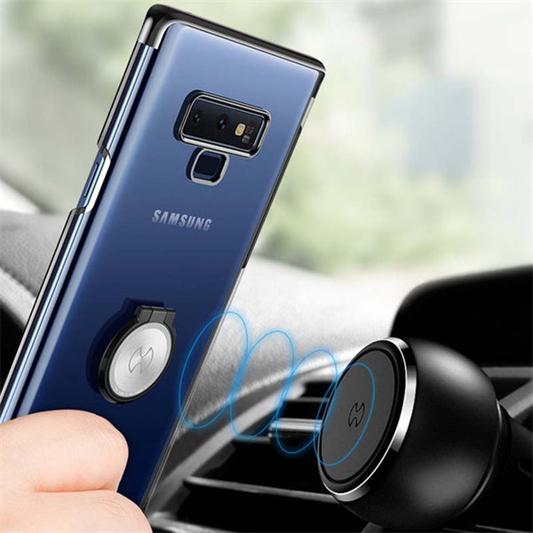 1020-Hard PC Clear Magnetic Car Holder Case For Galaxy Note 9
