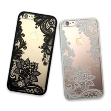Flower Lace Full edge Protection Mandala Vintage Case For iPhone-1
