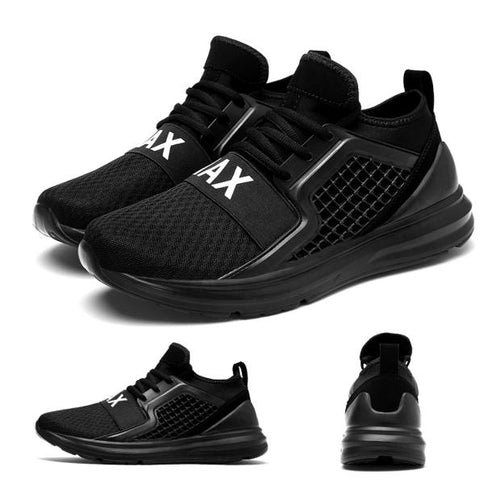 S014-Black White Sport Shoes Breathable Running Shoes For Man
