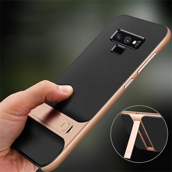 973-Hard PC+Soft TPU Bracket Case For Samsung Note 9