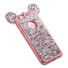 242-Luxury Bling Sequins Silicone Case For iPhone