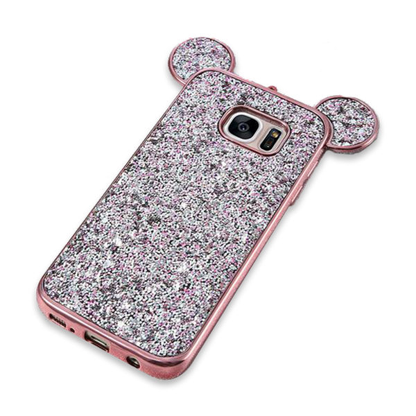 243-Luxury Bling Sequins Silicone Case for Samsung S7 S7 Edge