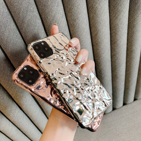 Rose Gold Uneven Soft TPU Silicone Case Cover for iPhone