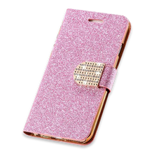 265-Bling Crystal Diamond Leather Wallet Phone Case For Samsung