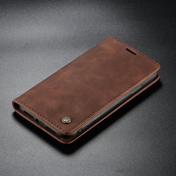Retro Leather Magneti Card Holder Case For iPhone