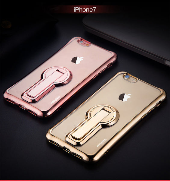 351-Electroplate Shiny Glitter Gold Case For iPhone
