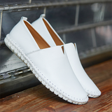 S060-Fashion Handmade Leather Mens Slip On Loafers