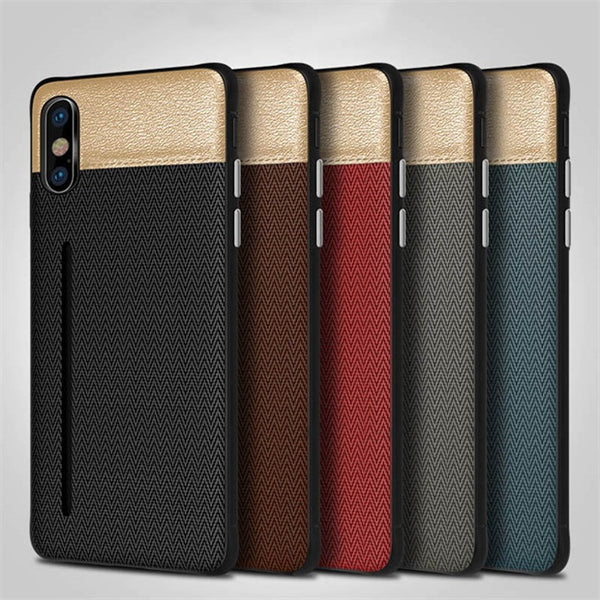 1128-Money Wallet Card Slot Leather Case For iPhone