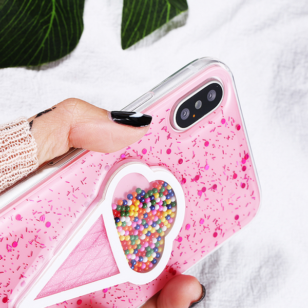 732-Dynamic Ice Cream Case For iPhone X