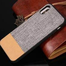 760-Luxury Cloth Soft Case For iPhone X