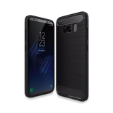 410-Soft TPU Brushed Carbon Fiber Texture Phone Case For Samsung