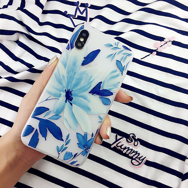 744-Fashion Flower Leaves Case For iPhone