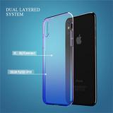776-Luxury Blue Ray Gradient Hard Case For iPhone