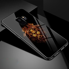 841-Luxury Tempered Glass Soft TPU Silicone Case For S9