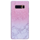 712-Soft Purple Marble Dandelion Case For Note 8