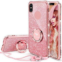 240X-Bling Diamond Phone Case For iPhone X