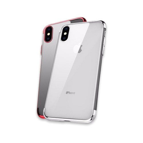 628-Ultra Thin Transparent Plating Shinning Case For iPhone X