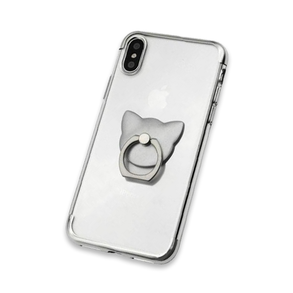 666-Transparent Light Weight 360 Rotate Case For iPhone
