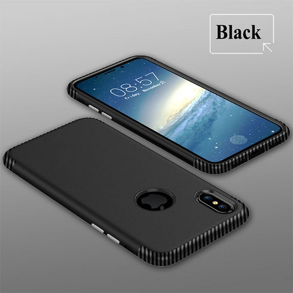 727-Carbon Fiber Shockproof Case For iPhone