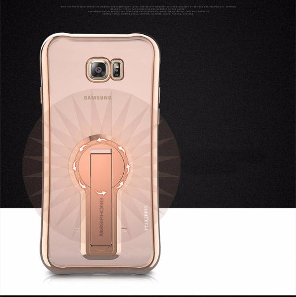 Electroplate Shiny Glitter Gold Case For Samsung-rose gold