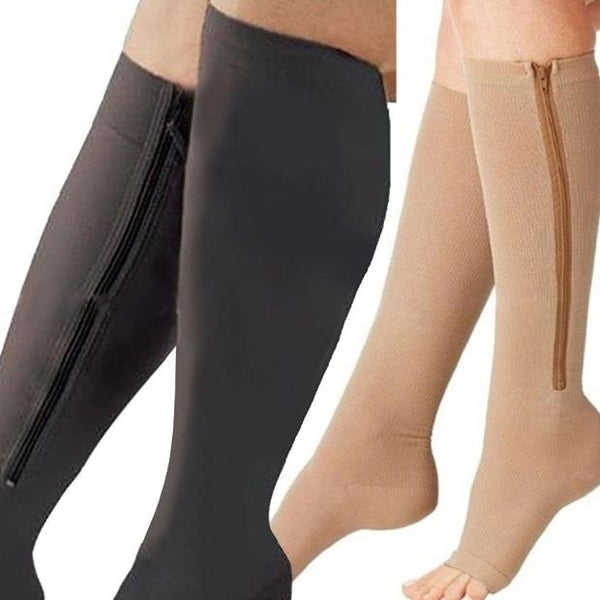 B030-Women Knee Long Skinny Slim Socks