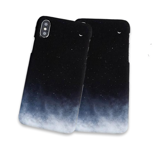 680-Gradient Starry Sky Case For iPhone X