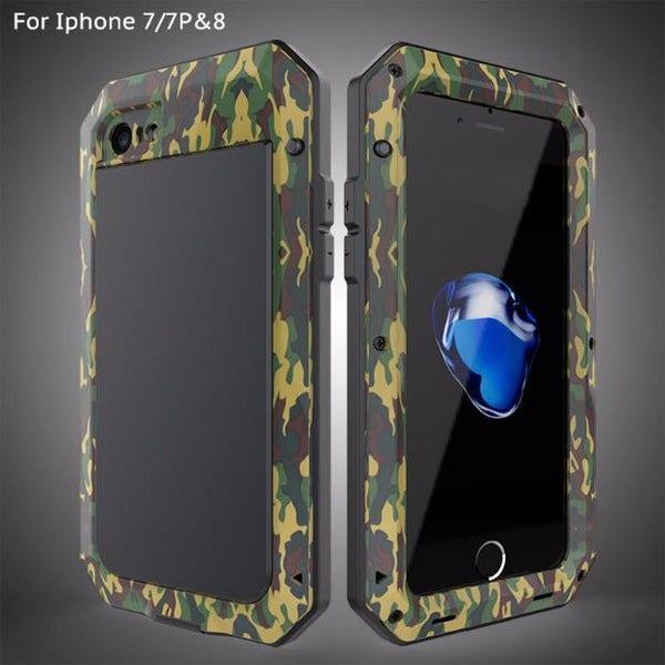 324-Heavy Duty Doom Armor Metal Case For iPhone