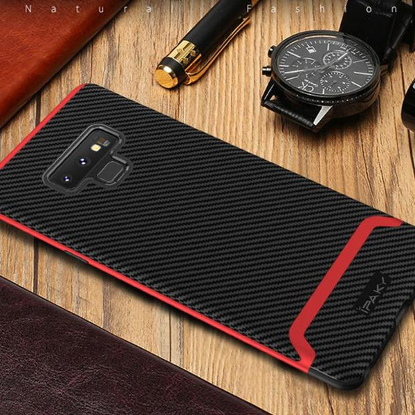 1017-Silicone Back Cover +Armor PC Frame Cases For Note 9