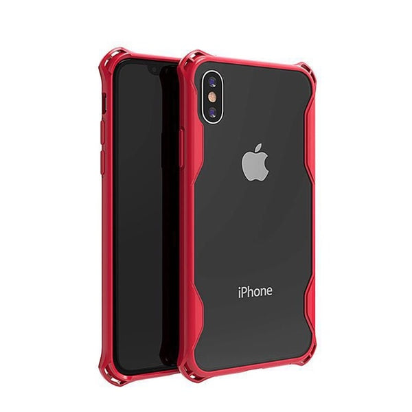 1081-Four Corner Anti-fall Two-in-One Case For iPhone