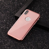 1086-Plated Mirror Phone Case For iPhone