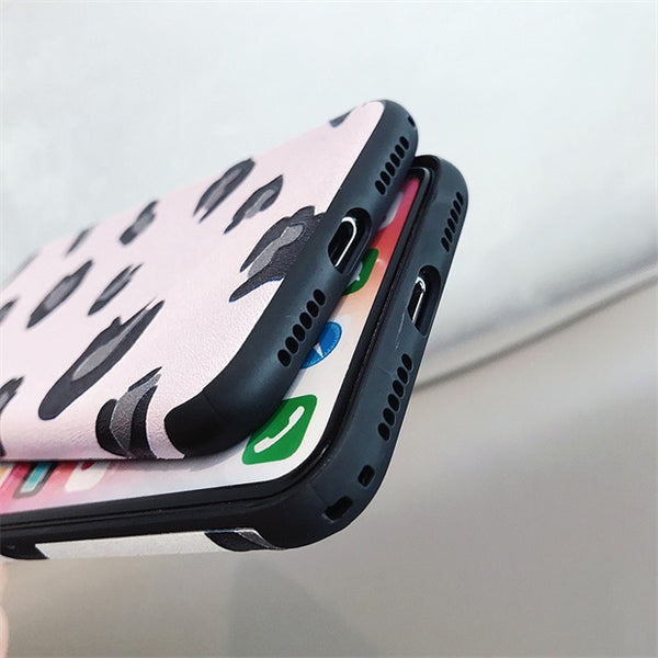 1079-Leopard Soft Phone Case For iPhone