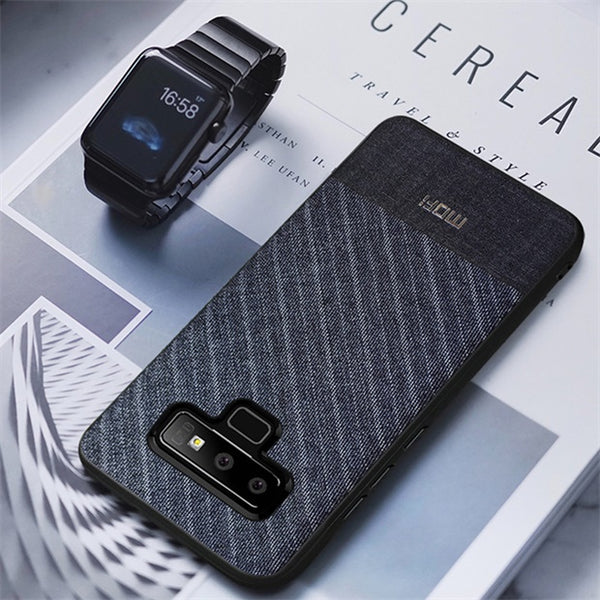 1007-Business Soft Cloth Fabrics Handcrafted Case For Samsung Galaxy Note 9
