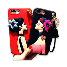 138-Elegant Lady Goddess Cover Case For iPhone