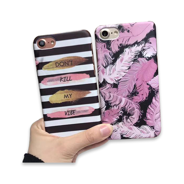 140-Feather Cover Case For iPhone