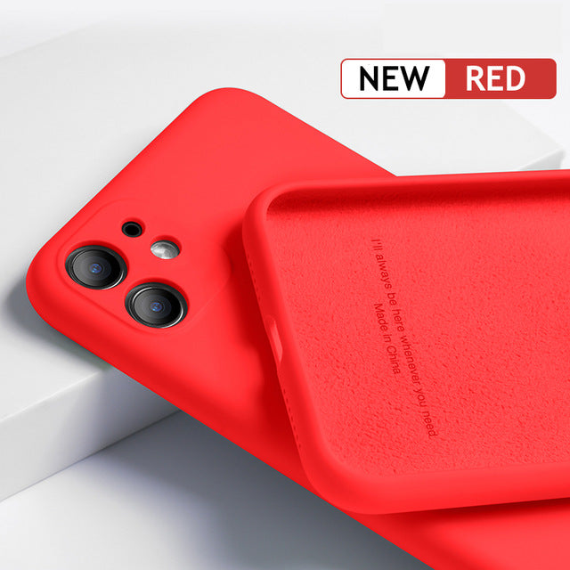 Luxury Original Silicone Full Protection Soft Case For iPhone