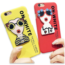 169-Glasses Girl Letters Cover Case For iPhone