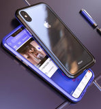 1042-Magnetic Tempered Glass Case For iPhone