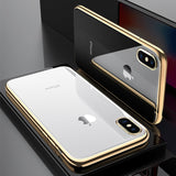 771-Ultra Thin Electroplated Clear Soft TPU Case For iPhone