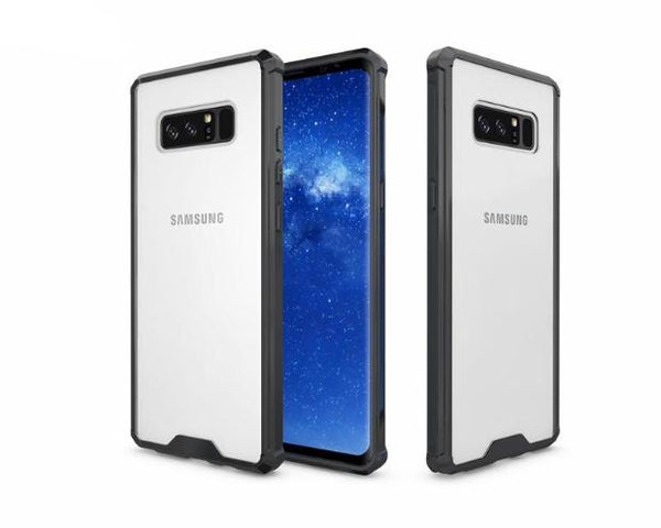 696-Soft Transparent Case For Samsung Note 8