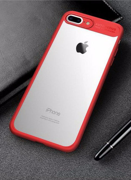 Ultra Slim Full Protective TPU Edge Case For iPhone-red white