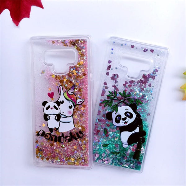 992-Silicone TPU Dynamic Liquid Glitter Case For Samsung Note 9