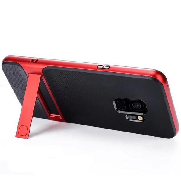 853-Silicon + PC Stand Protective Cover For S9/S9+