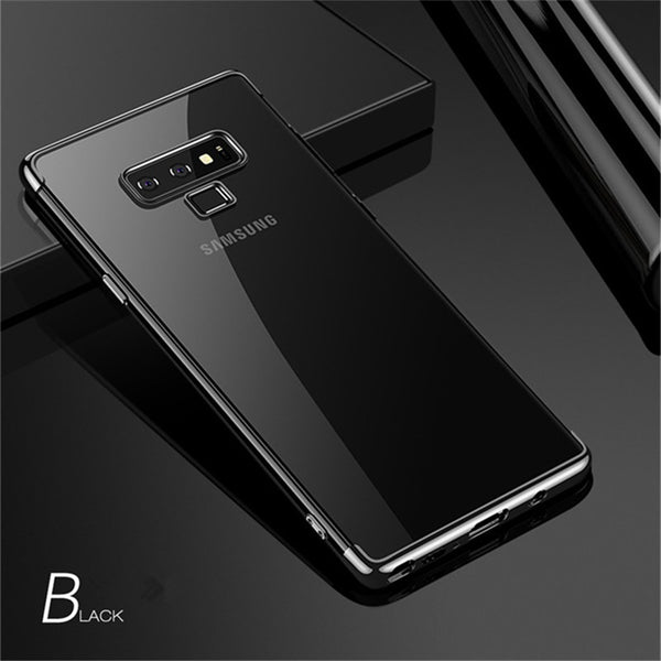969 - Crystal Clear Tpu Soft Phone Case for Samsung Note 9
