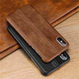1028-Genuine Leather Slim Fit Protective Cases For iPhone