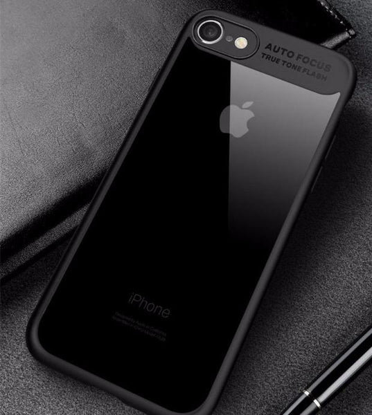 Ultra Slim Full Protective TPU Edge Case For iPhone-black