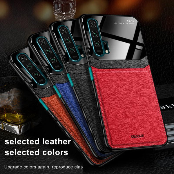 leather Mirror case For huawei