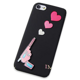 166-Love Pistol Matte Material Case For iPhone