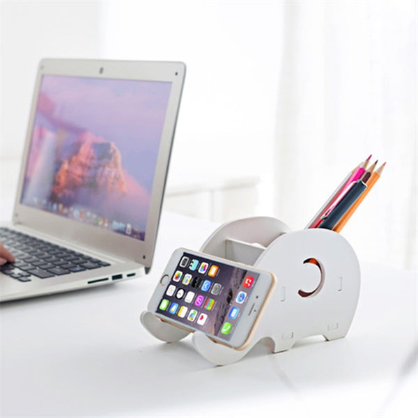 1006-Office Desktop Creative Cute Elephant Phone Holder Stand