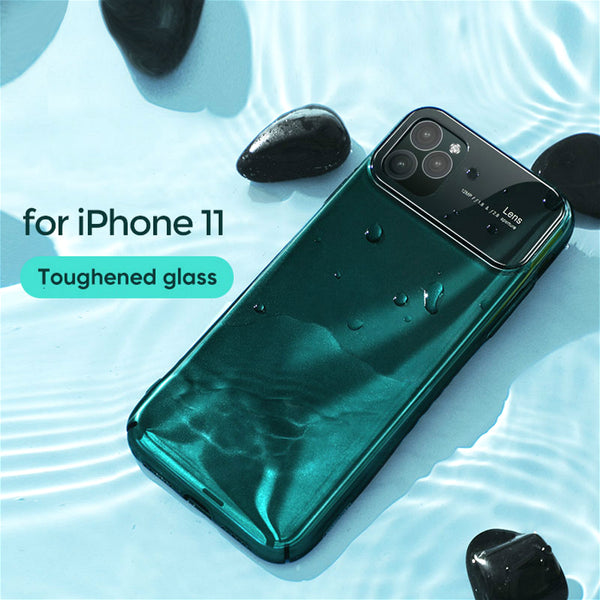 Ultra Thin Luxury Mirror Glass Bumper Protective Case For iPhone