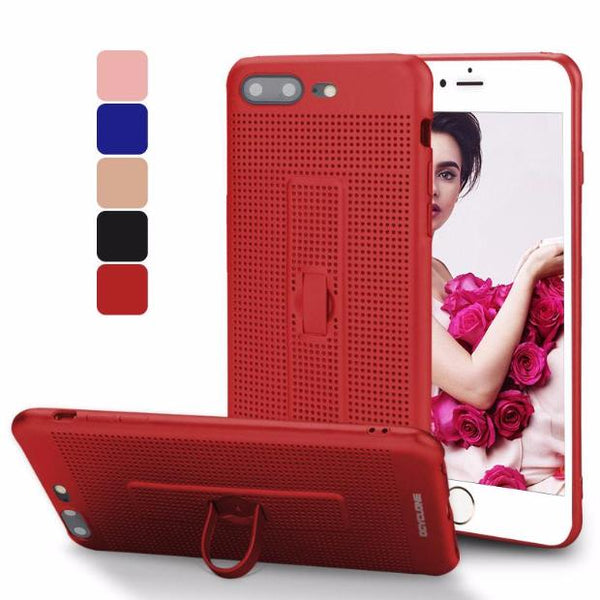 422-With Holder & Mesh Fitted Case For iPhone